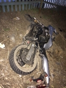 В Волжском районе мотоцикл опрокинулся в кювет. Есть жертвы