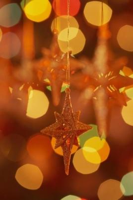 Рождественские звездочки постер